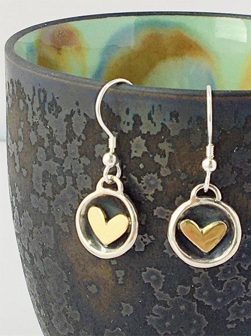 Heart cup earrings.