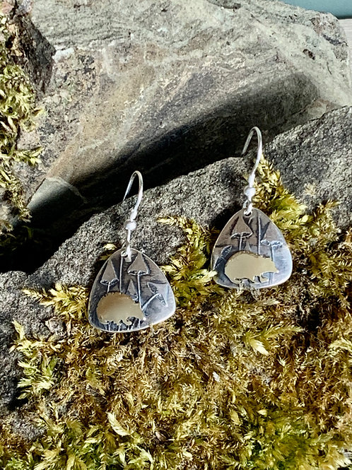 Hedgehog earrings