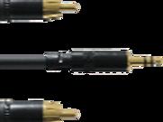 Cordon PRO mini jack 3,5 stéréo / 2 RCA M de 90cm