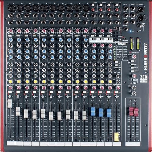 Mixage analogique ALLEN & HEATH ZED-16FX