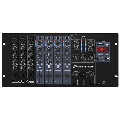 "MIXER DJ RACKABLE 19"" 7 CANAUX CLUB7-USB"