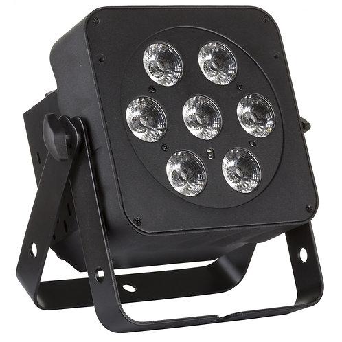 PROJECTEUR LED 7x12W RGBWA+UV LED PLANO 6IN1