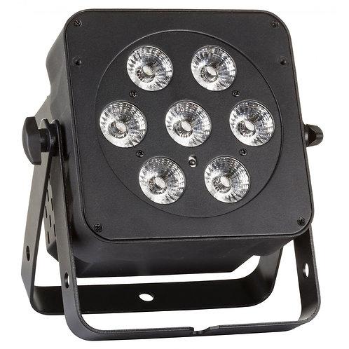 PROJECTEUR LED 7x8W BLACK RVB+ BLANC LED PLANO 7FC-WHITE