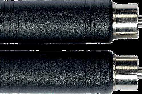 Adaptateur JACK6,35 F / RCA M (lot de 2)