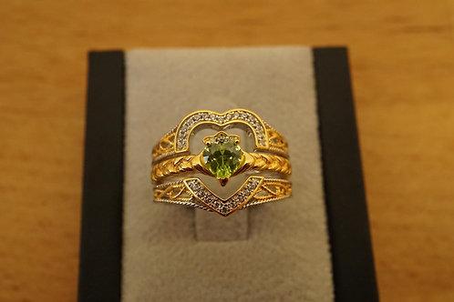 S/S Heart Ring Set