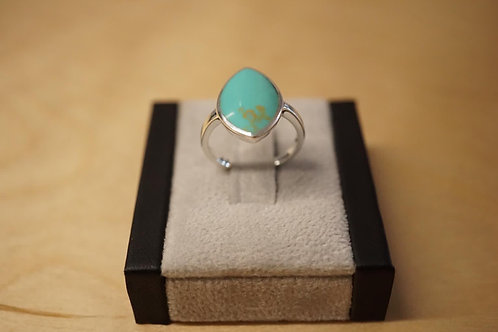 S/S Turquoise Ring