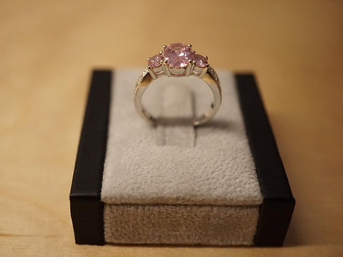 S/S Pink CZ Ring