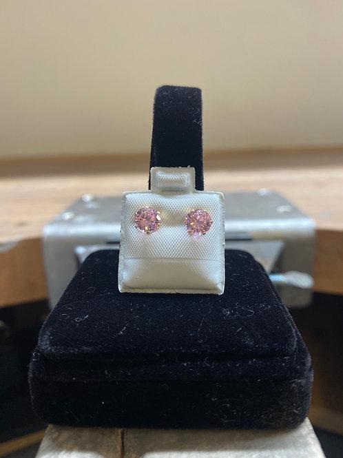 9CT Pink Studs