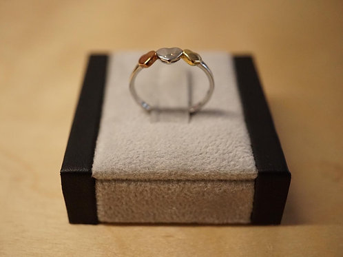 S/S 3 Hearts Ring