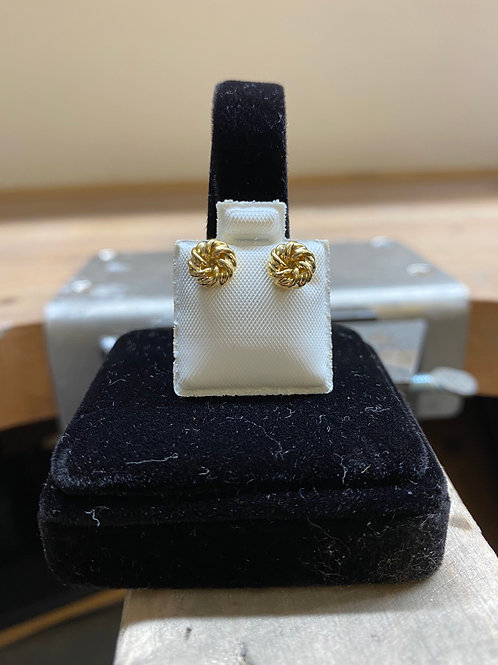 9CT Scrunched Studs
