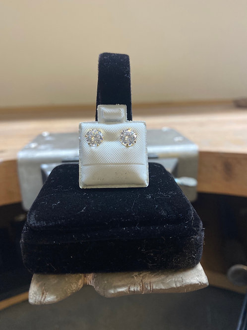 9CT Clear studs