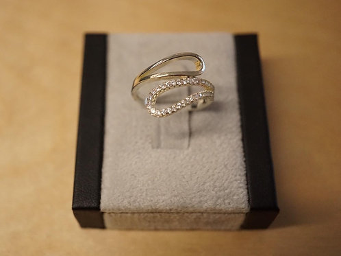 S/S CZ Bypass Ring