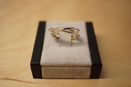 S/S Three Band Ring