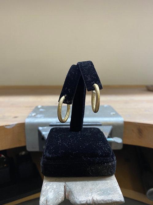 9CT Textured Earrings