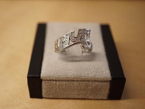 """S/S CZ """"MUM"""" Ring"""