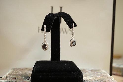 CZ Cluster Drop Earrings