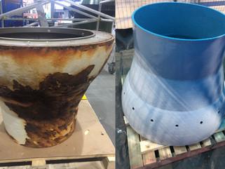 Hydro turbine corrosion repairs