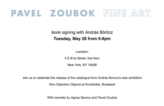 Release of new catalogue and book signing at Pavel Zoubok Fine Art, New York - May 28