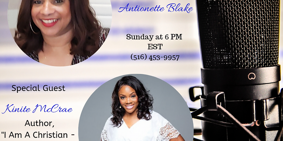 Author Kinite McCrae live interview on the DelBlogger Podcast