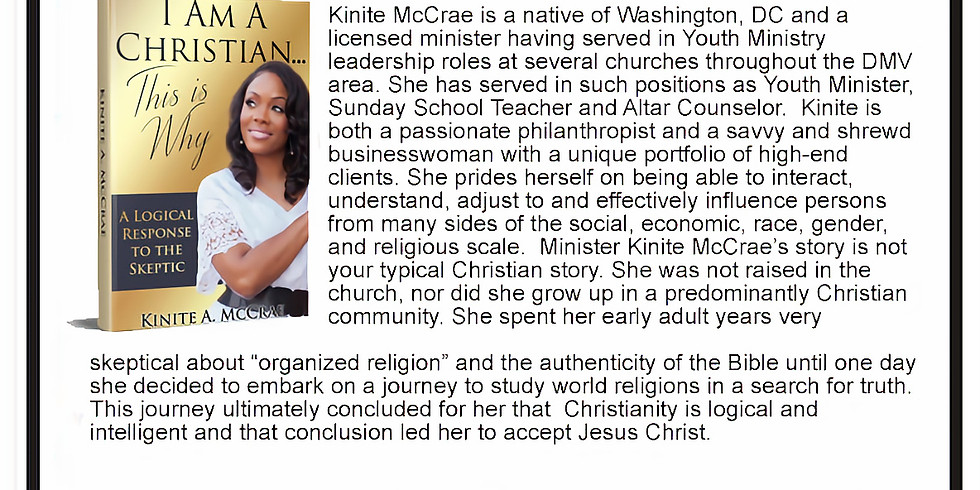 Kinite McCrae Radio Interview w/ Karmen Booker