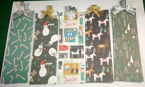 Christmas bookmarks - Pack of 5