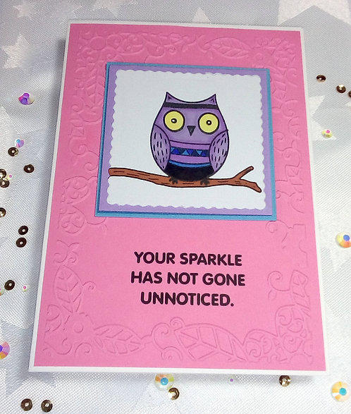 Purple owl - Your sparkle has not gone unnoticed