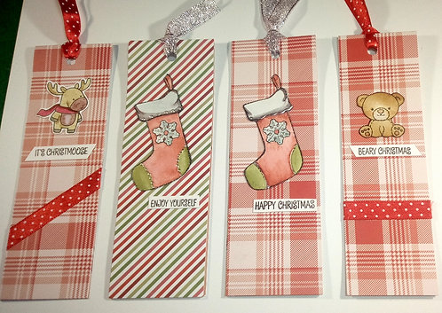 Christmas bookmarks - Pack of 4