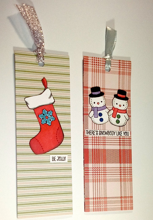 2 Magnetic christmas bookmarks