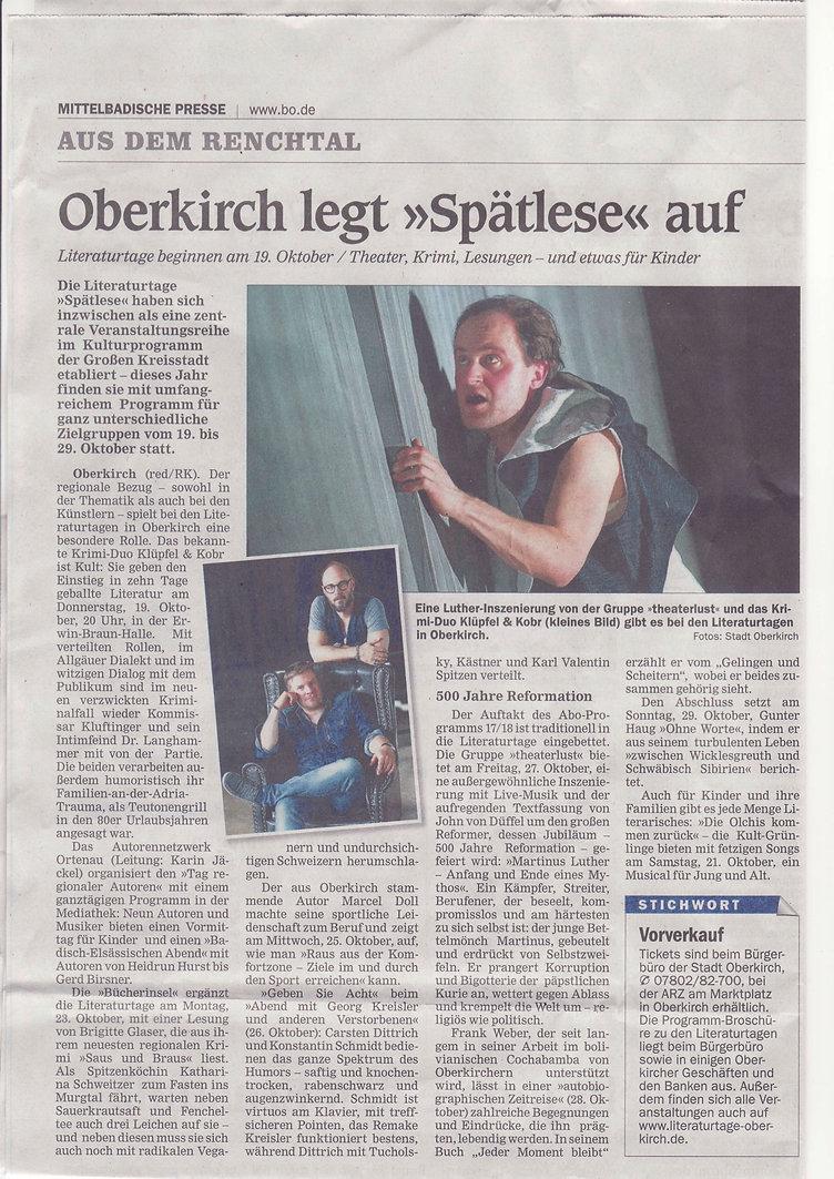 Oberkircher Literaturtage