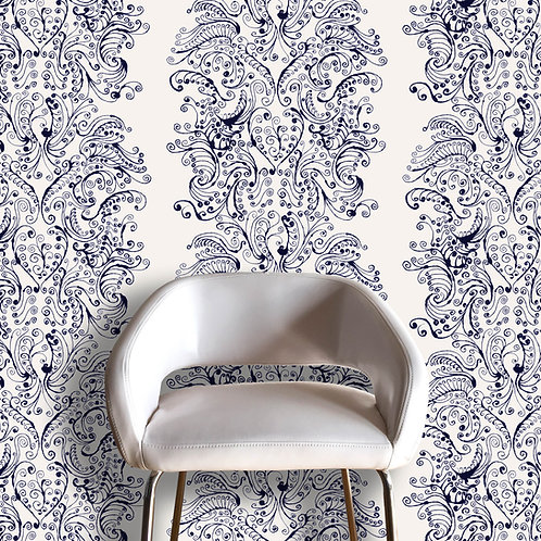 Pia Scroll Wallcovering