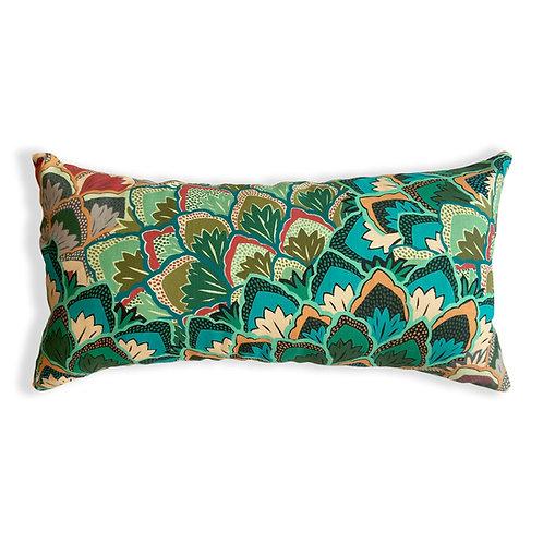 Proud Peacock Lumbar Pillow Cover