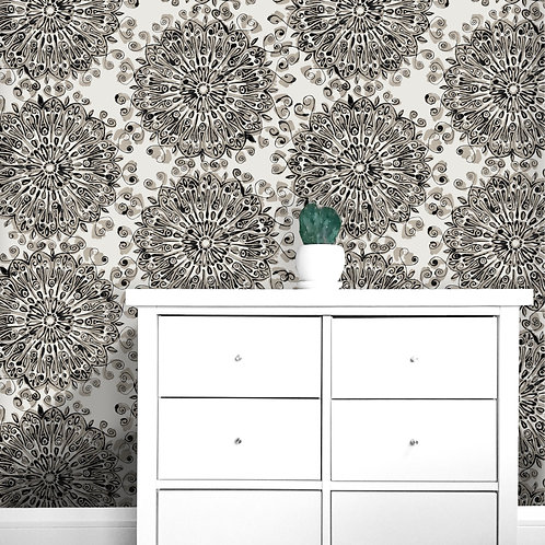 Viennese Medallion Wallcovering