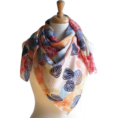 Ave Floral Silk Scarf