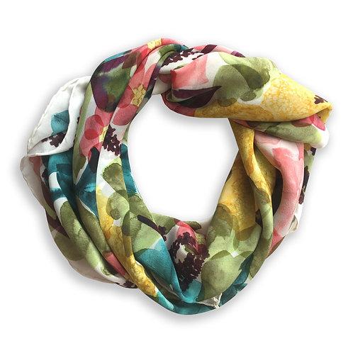 Petunia Garden Silk Scarf