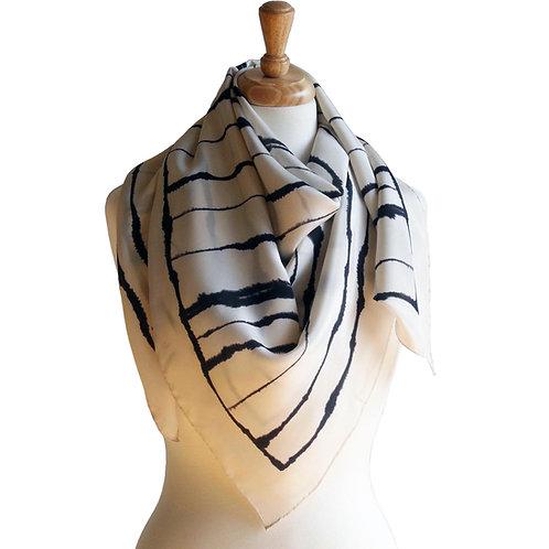 Effusion Stripe Silk Scarf