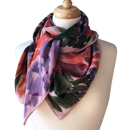 Abstract Inkling Silk Scarf
