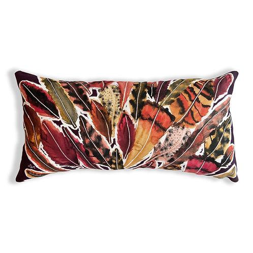 Purple Polly Lumbar Pillow Cover