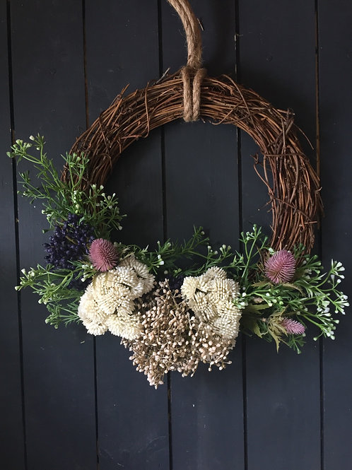 Half thistle wreath 1