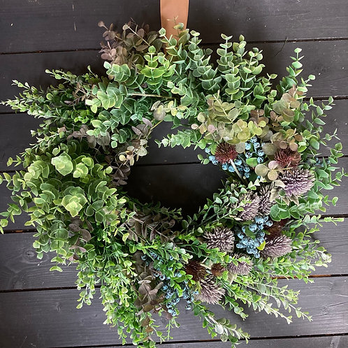 ONE OFF - Foilage and thistle wreath