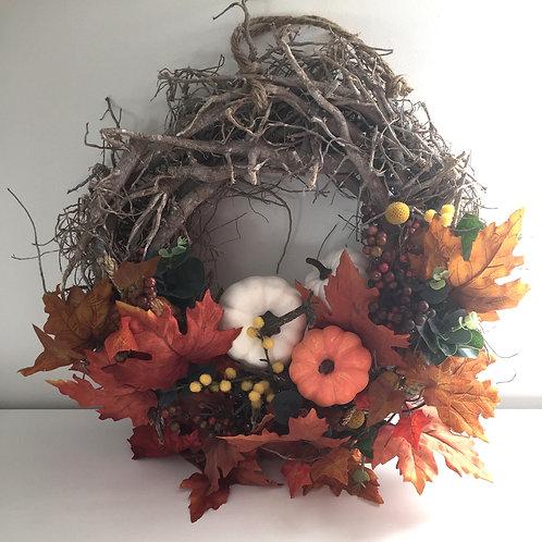 Autumn pumpkin wreath