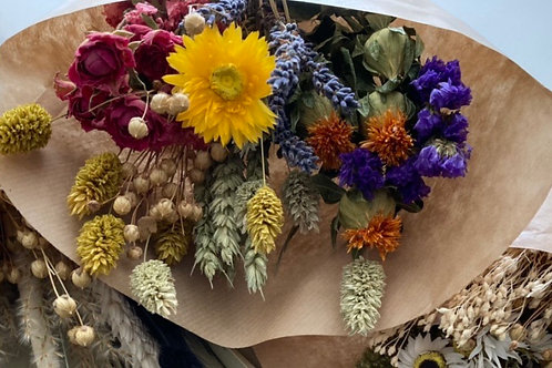 Small meadow dried flower bunch