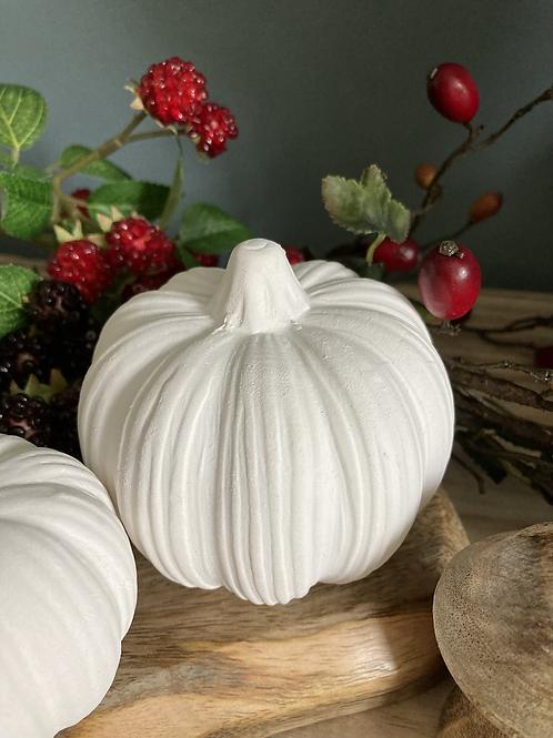 Medium ceramic pumpkin