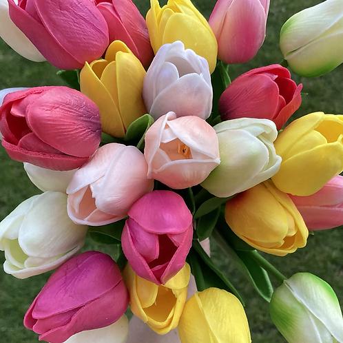 Faux tulip bunch