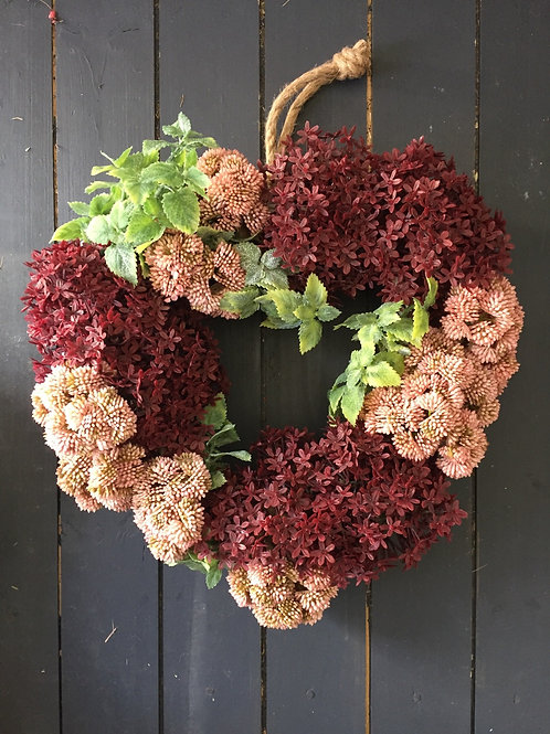 Sedum Autumn wreath