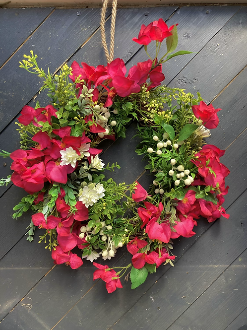 Bougainvillea faux wreath