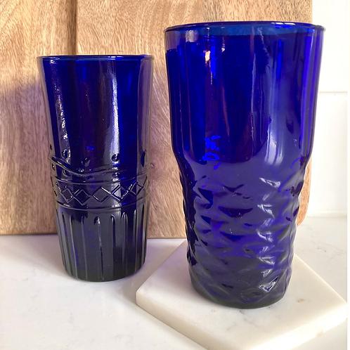 Cobalt Blue drinking glass