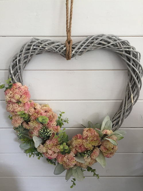 Heart shaped floral wreath 2020