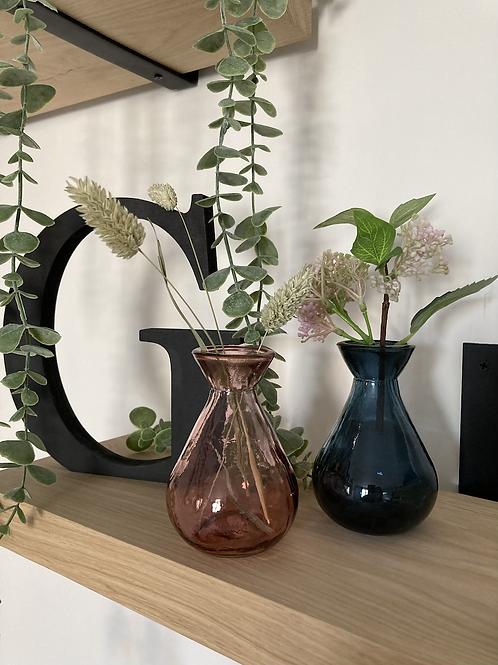 Recycled Blue bud vase