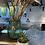 Thumbnail: Fluted green glass vase