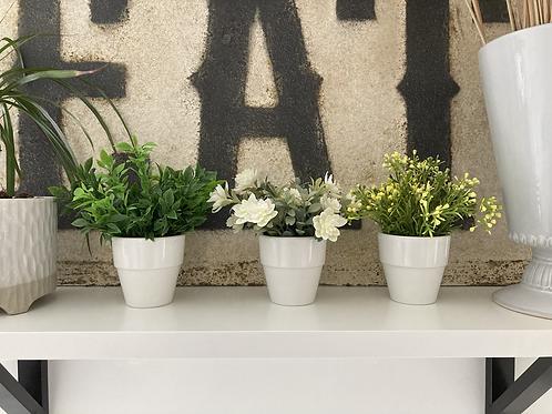 Set of 3 faux plants